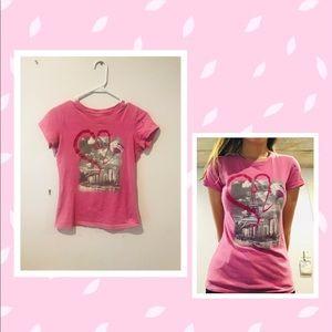 Pink Eiffel Tower shirt